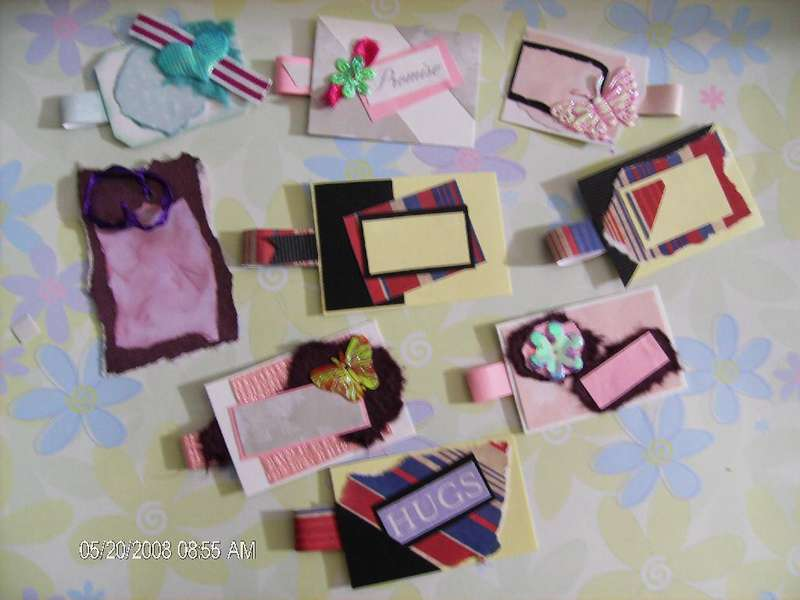 9 Handmade scrapbook tags