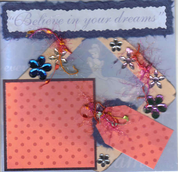 Believe in your dreams 6x6 Scrapbook Page