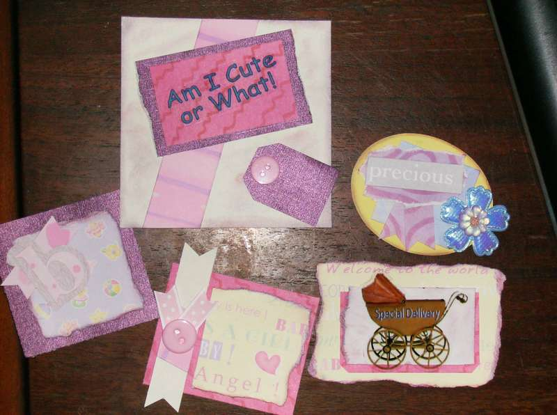 Baby Girl Scrapbook page tags