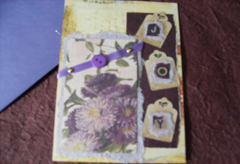 Joy Greeting Card Handmade Card