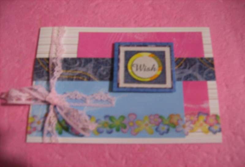 Premade Handmade Card Greeting Card Wish