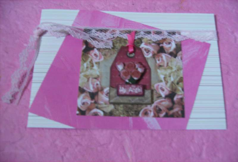 Premade Handmade Card Greeting Card My Angel