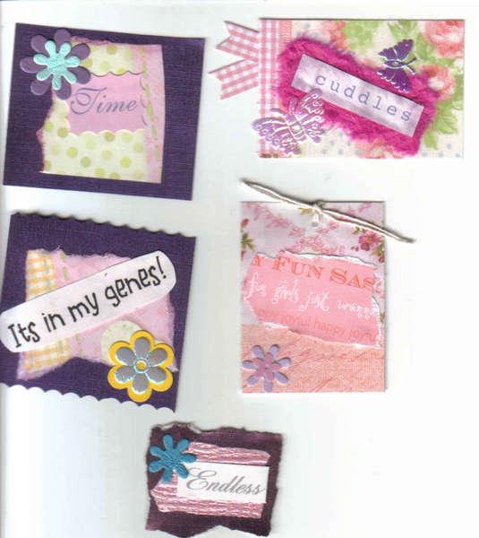 5 Scrapbooking card making handmade tags