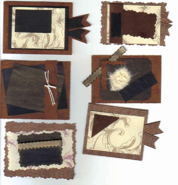 6 Handmade scrapbook tags