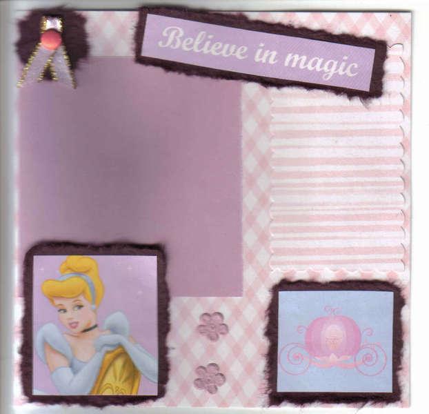 Believe in magic ... Cinderella Scrapbook Page