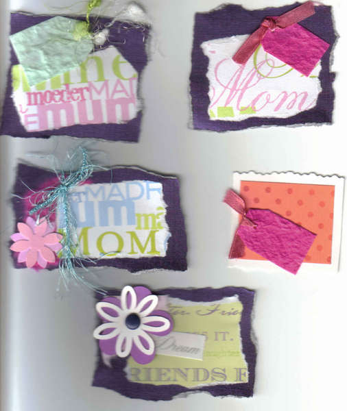 Handmade Scrapbook card making tags