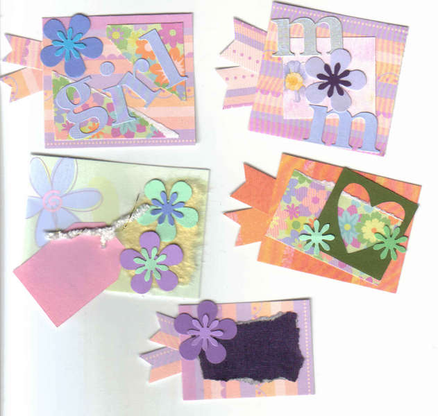 girl mom Handmade scrapbook Card making tags