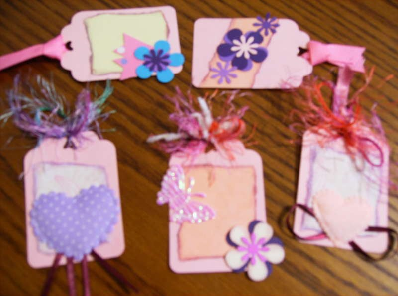 Handmade Scrapbooking Card making tags!
