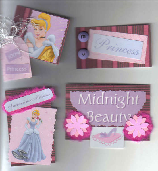 Cute princess Handmade tags