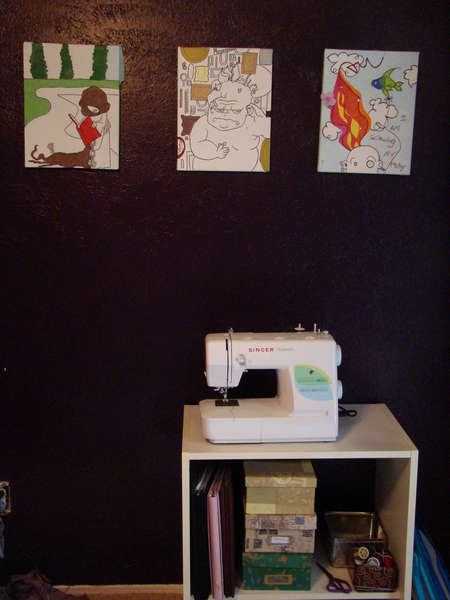 the super cool sewing machine!