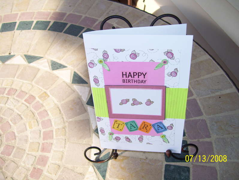 TARA'S 08 BIRTHDAY CARD