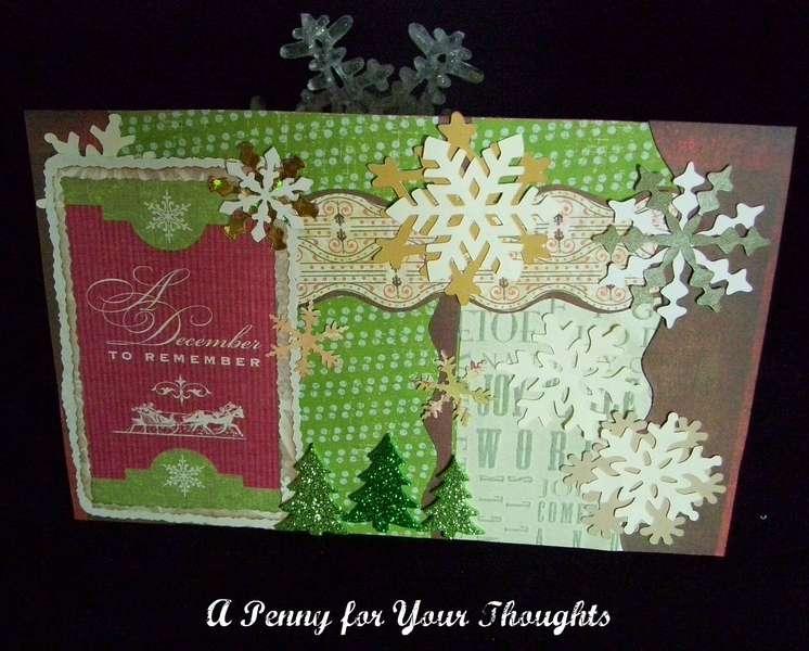 A DECEMBER TO REMEMBER HANDMADE CHRISTMAS CARD