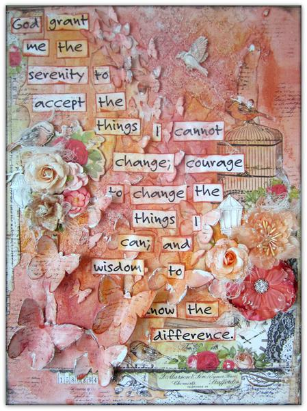 Inspirational Altered Canvas