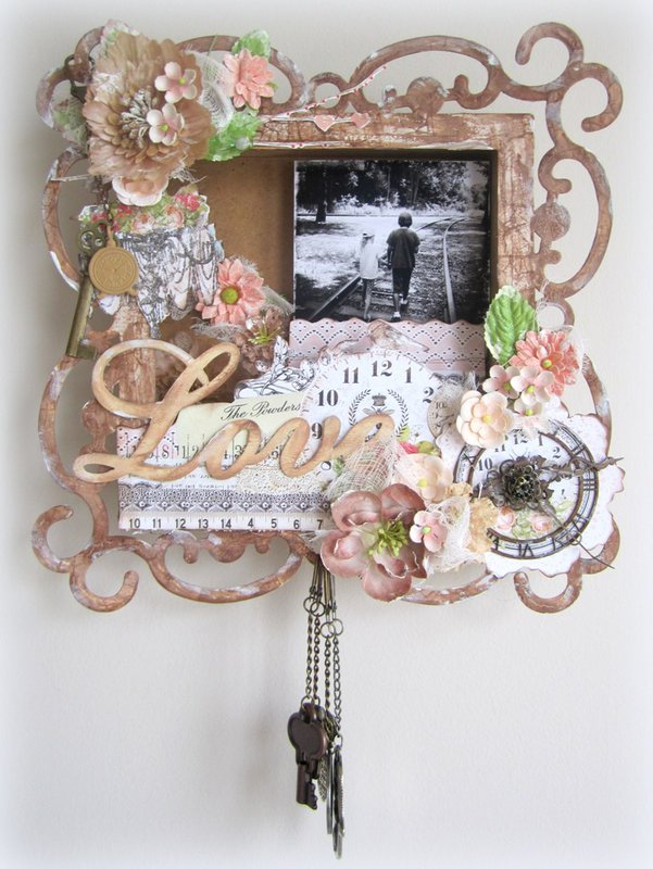 Love- Shadow box frame for 2 Crafty and Prima Lyric