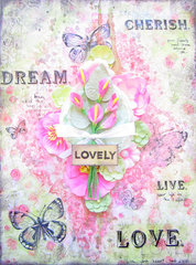 Lovely Canvas- Flying Unicorn February Kit