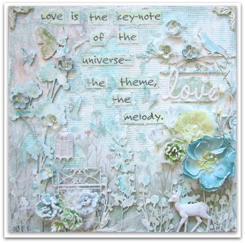 Love- Inspirational Canvas- DT work for 2 Crafty and 13 ARts