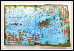 Courage- Art Journaling