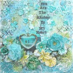 You are the anchor to my heart- Prima canvas