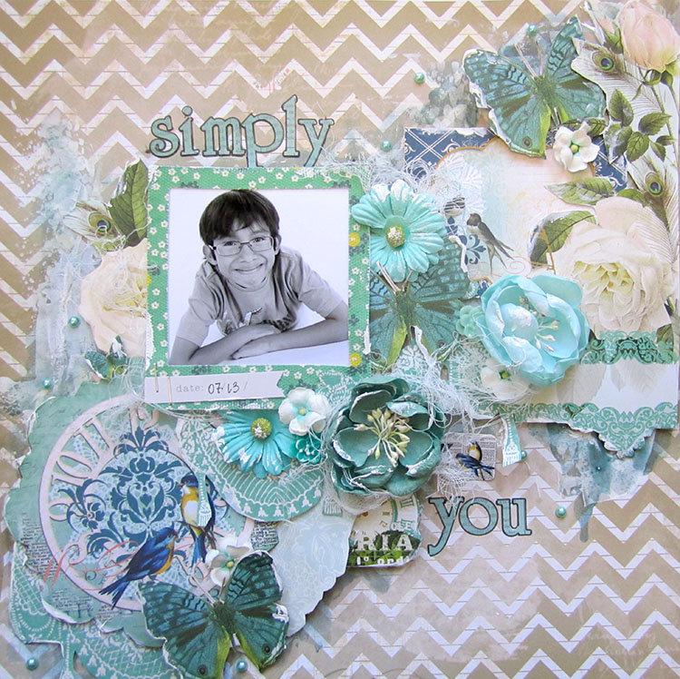 Simply you- Scraps of Elegance October kit
