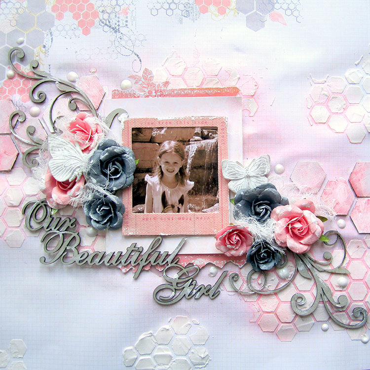Our Beautiful Girl ** 2 Crafty Chipboard DT**