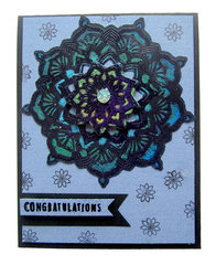 Congratulations Mandala Card with Concord and 9th