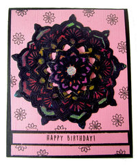 Happy Birthday Mandala Card with Concord and 9th