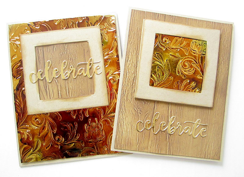 Elegant cards with Alcohol Inks