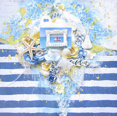 Scrapbooking Layout with Prima Santorini Collection