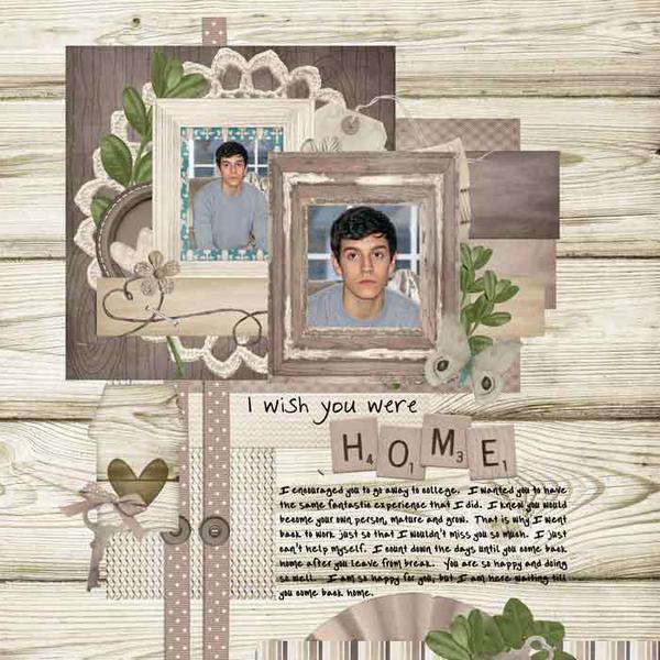 I wish you were home