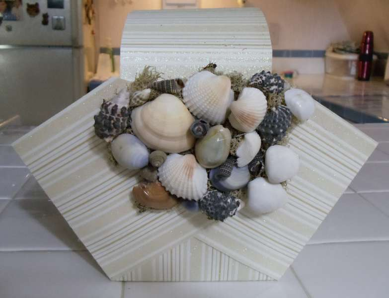 Other side of Sea Shell Basket