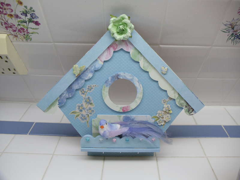 Blue Birdhouse Hanging