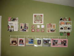 Layout display, 7 gypsies tray, scrappy signs