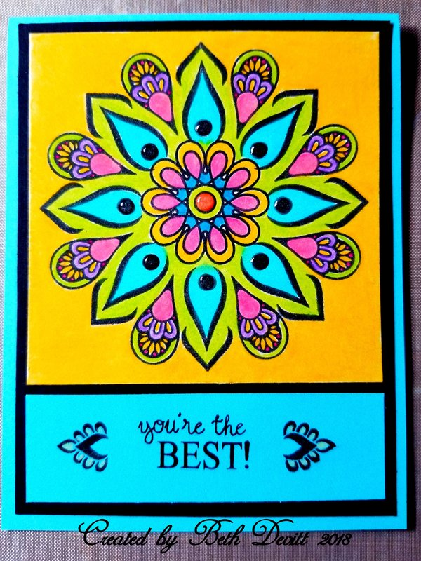 You're the Best Rina K Mandala Card