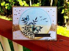 Tropical Tidings Wedding Card Gina K Designs