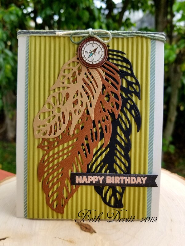Feathers in the Wind Birthday Card