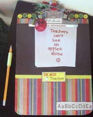 Altered Clipboard-Teachers Thank you gift!