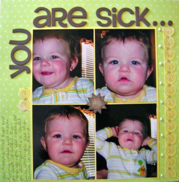 You are sick.....