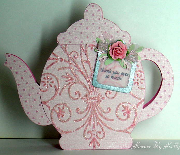 Thank You Ever So Much-Teapot Shaped Card