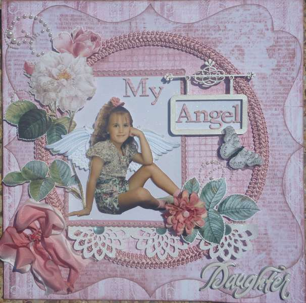 My Angel Daughter Tim Holtz Vintage Shabby