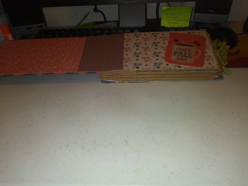 first two pages of the paper album