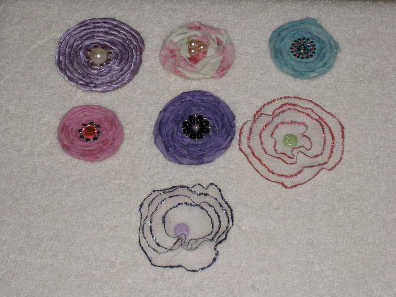 Fabric flowers & Lollipop tulle flowers