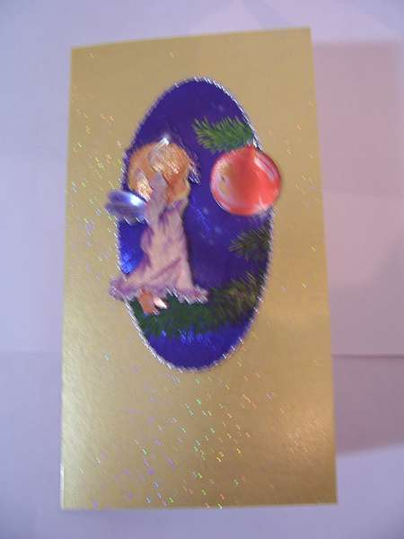 Angel and Bauble Christmas card