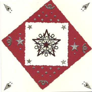 3D Star Christmas card 3