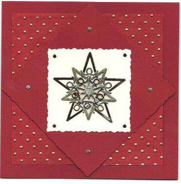 3D Star Christmas card 4