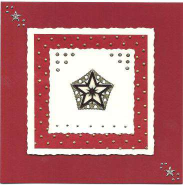 3D Star Christmas card 2
