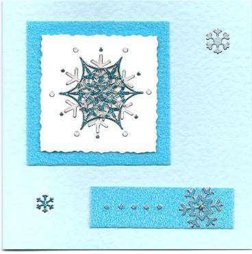 3D snowflake Christmas card 4