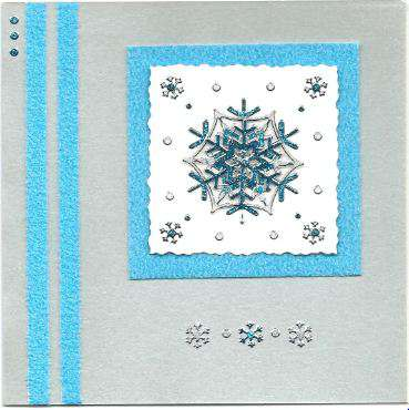 3D Snowflake Christmas card 1