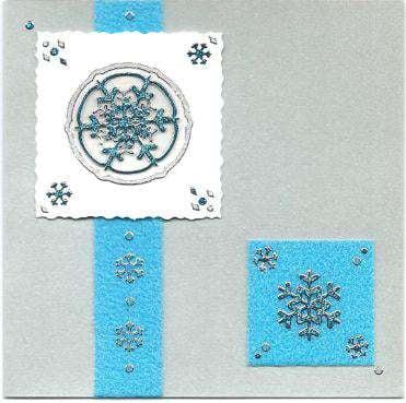 3D snowflake Christmas card 3