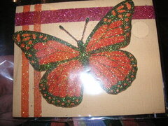 Irridescent Glitter Butterfly Card
