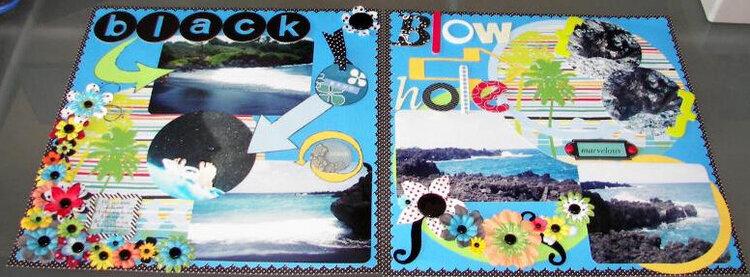 Maui - full layout - black sand beach / blowhole
